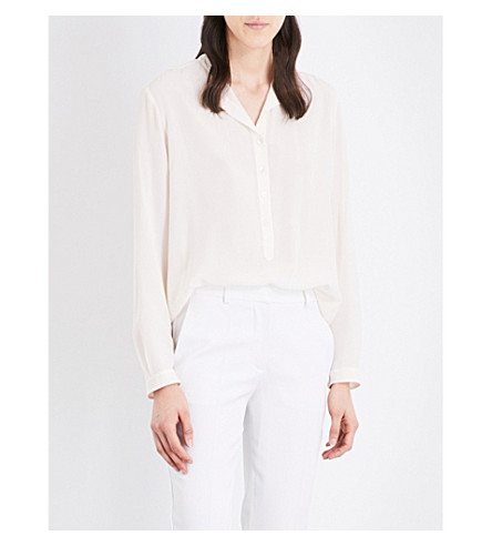STELLA MCCARTNEY Eva silk shirt (Natural