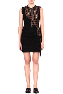 STELLA MCCARTNEY Mesh-panel fringed dress