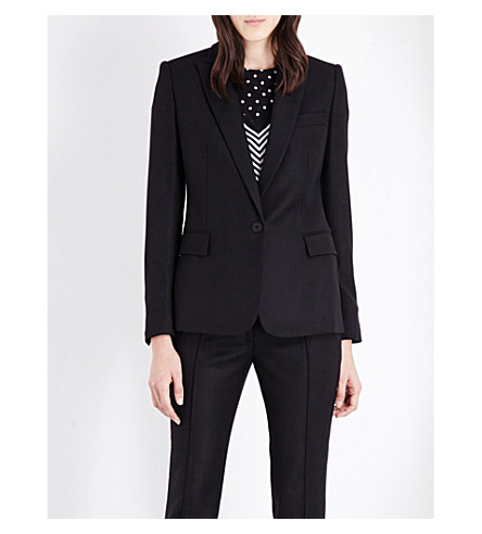 STELLA MCCARTNEY Ingrid single-breasted wool jacket (Blk