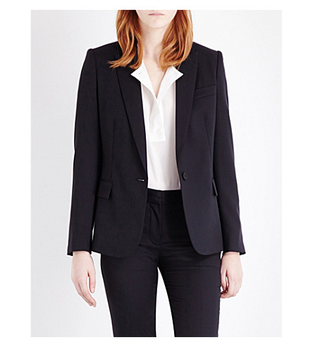 STELLA MCCARTNEY Ingrid single-breasted wool jacket (Cornflower