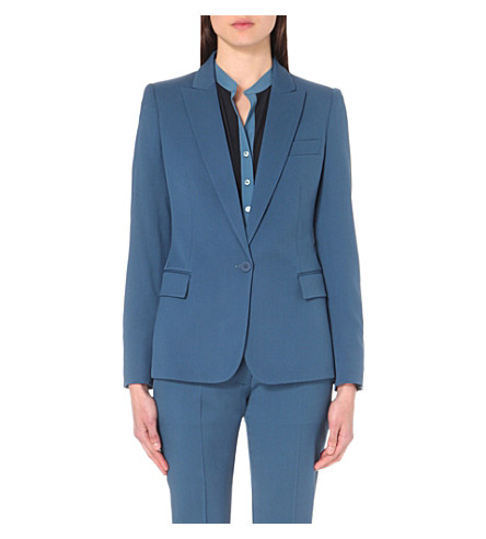 STELLA MCCARTNEY Ingrid wool blazer (Airforce+blue