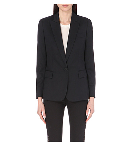 STELLA MCCARTNEY Ingrid wool blazer (Black