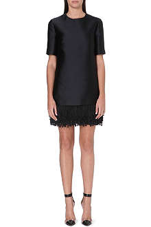 STELLA MCCARTNEY Fringed-hem satin dress