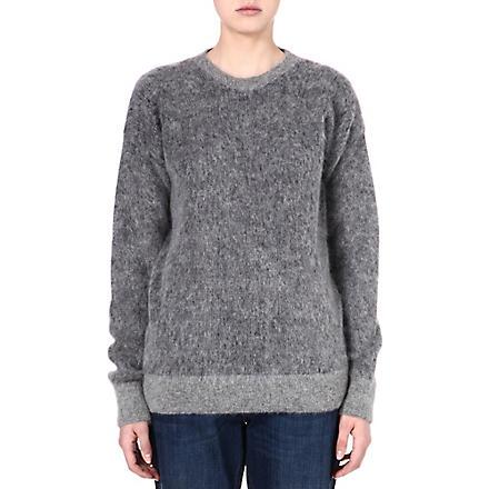 STELLA MCCARTNEY Oversized mohair-blend jumper (Grey