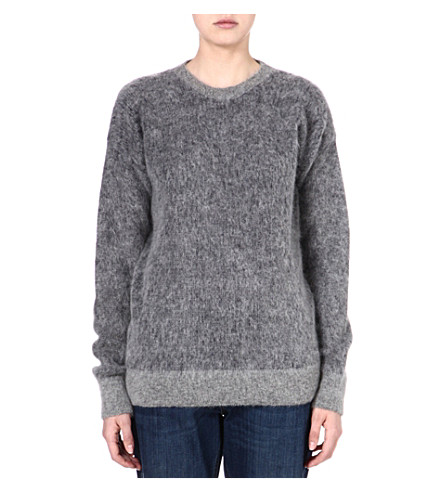 STELLA MCCARTNEY Oversized mohair-blend jumper (Grey