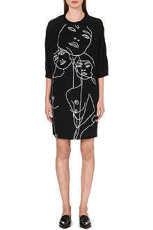 STELLA MCCARTNEY Embroidered face-detail dress