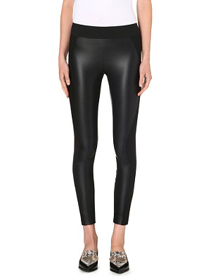 STELLA MCCARTNEY Faux-leather and jersey leggings