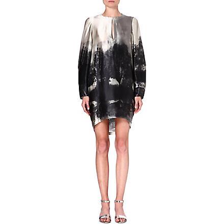 STELLA MCCARTNEY Silk tunic dress (Grey