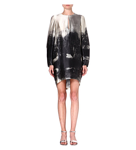 STELLA MCCARTNEY Silk tunic dress (Grey