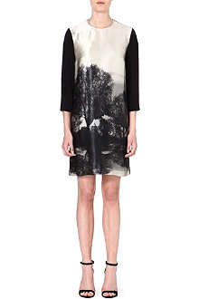 STELLA MCCARTNEY Forest-print silk dress