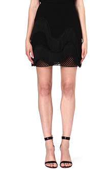 STELLA MCCARTNEY Fringed open-knit skirt