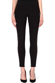 STELLA MCCARTNEY Open-knit leggings