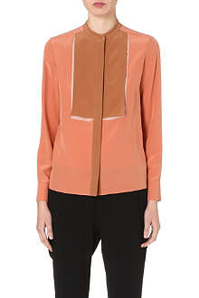 STELLA MCCARTNEY Contrast-panel silk blouse