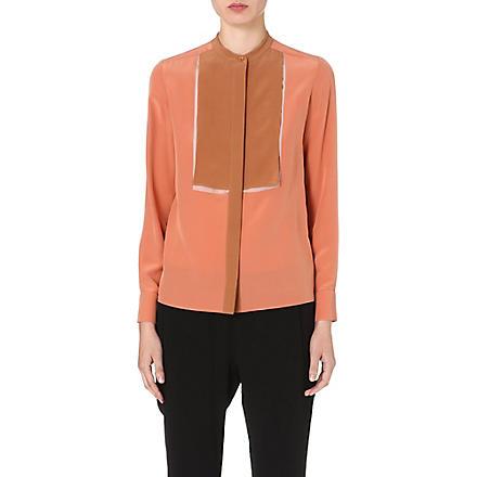 STELLA MCCARTNEY Contrast-panel silk blouse (Pink
