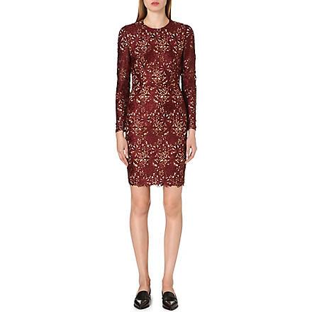 STELLA MCCARTNEY Long-sleeved lace dress (Burgundy