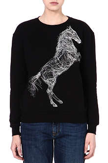 STELLA MCCARTNEY Horse-embroidered sweatshirt