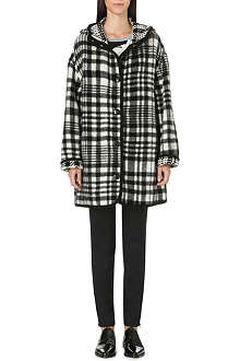 STELLA MCCARTNEY Hooded check coat