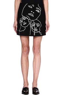 STELLA MCCARTNEY Faces wool-blend skirt