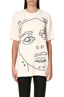 STELLA MCCARTNEY Face print crepe top