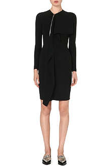 STELLA MCCARTNEY Zip-detail ruffled crepe dress