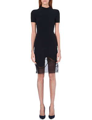 STELLA MCCARTNEY Masters sheer panel dress