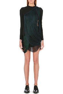 STELLA MCCARTNEY Fringe-detail long-sleeved dress