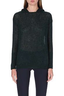 STELLA MCCARTNEY Hooded open-knit jumper