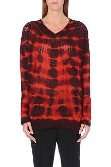 STELLA MCCARTNEY Tie-dye alpaca-blend jumper