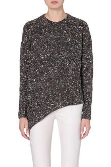STELLA MCCARTNEY Asymmetric mixed knit jumper