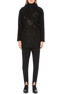 STELLA MCCARTNEY Zip-embellished wool-blend coat
