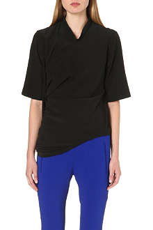 STELLA MCCARTNEY Draped silk top