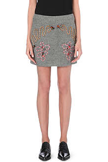 STELLA MCCARTNEY Rope-detail wool-blend skirt