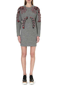 STELLA MCCARTNEY Rope-detail tweed dress