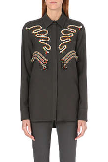 STELLA MCCARTNEY Rope-detail wool shirt