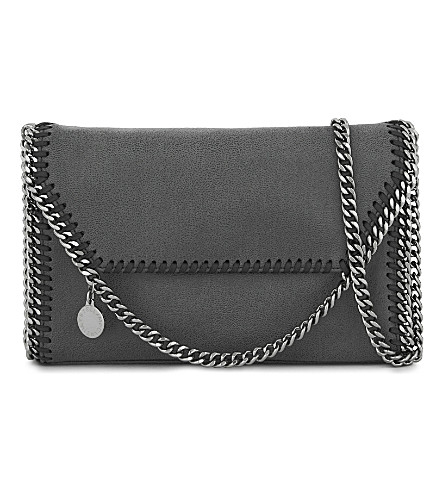 STELLA MCCARTNEY Falabella faux-suede cross-body bag (Bark