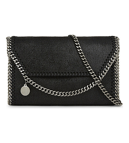 STELLA MCCARTNEY Falabella faux-suede cross-body bag (Black