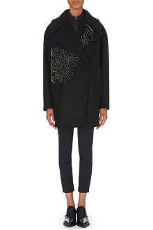 STELLA MCCARTNEY Zip-detail wool-blend coat