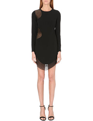 STELLA MCCARTNEY Sheer-insert stretch-crepe dress