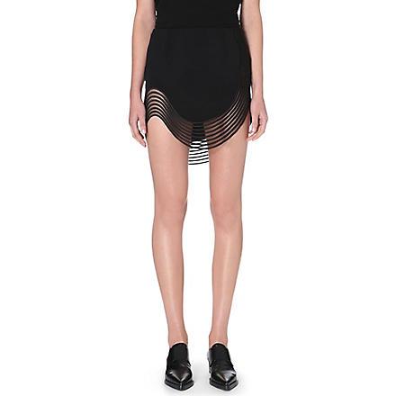 STELLA MCCARTNEY Curved-hem mini skirt (Black