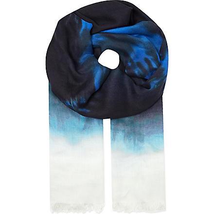 STELLA MCCARTNEY Tie dye scarf (Blue