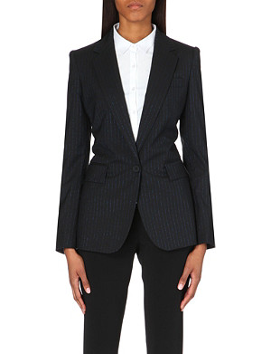 STELLA MCCARTNEY Metallic-pinstripe wool jacket