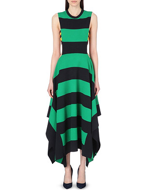 STELLA MCCARTNEY Striped bandeau-detail dress