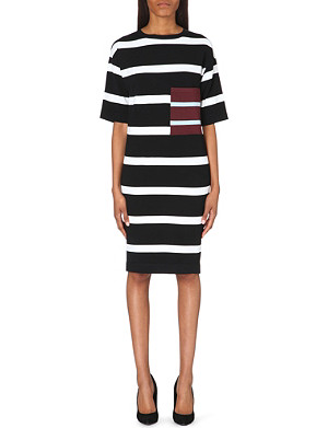 STELLA MCCARTNEY Striped stretch-knit dress