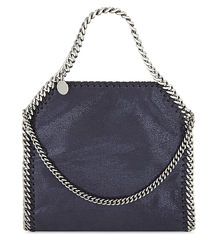 STELLA MCCARTNEY Mini Bella faux-suede shoulder bag (Navy