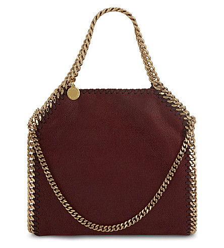 STELLA MCCARTNEY Mini Baby Bella faux-leather tote (Ruby