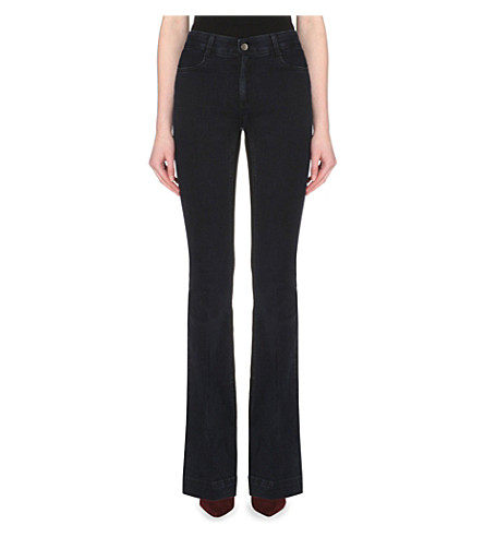 STELLA MCCARTNEY Flared mid-rise jeans (Blue/blk