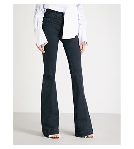 STELLA MCCARTNEY Flared mid-rise jeans (Ink