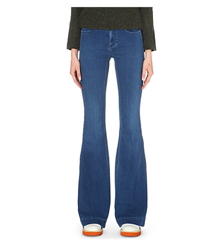 STELLA MCCARTNEY Flared mid-rise jeans (Blue