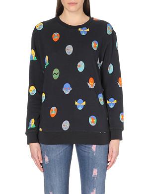 STELLA MCCARTNEY Superhero cut-out cotton-jersey sweatshirt