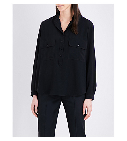 STELLA MCCARTNEY Estelle silk-crepe shirt (Black